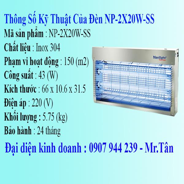 đèn diệt côn trùng navilight np-2x20w-ss
