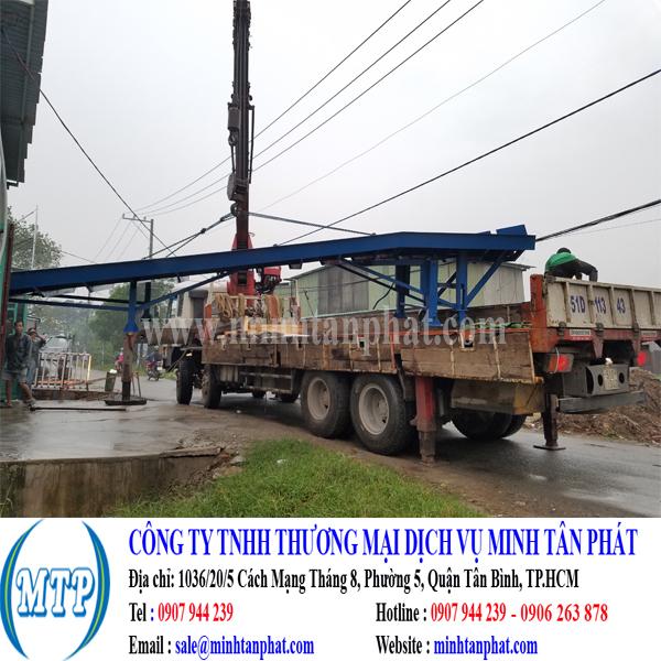 Minh Tân Phát cung cấp cầu lên container, cầu dẫn xe nâng hàng lên container