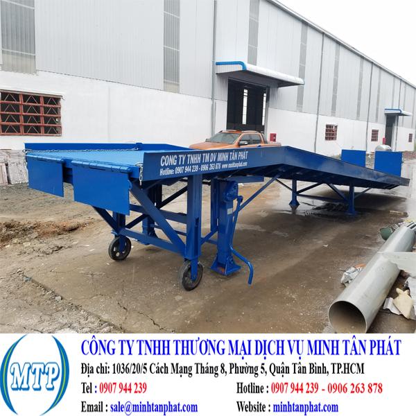 Minh Tân Phát chuyên sản xuất cầu lên container, cầu dẫn xe nâng hàng