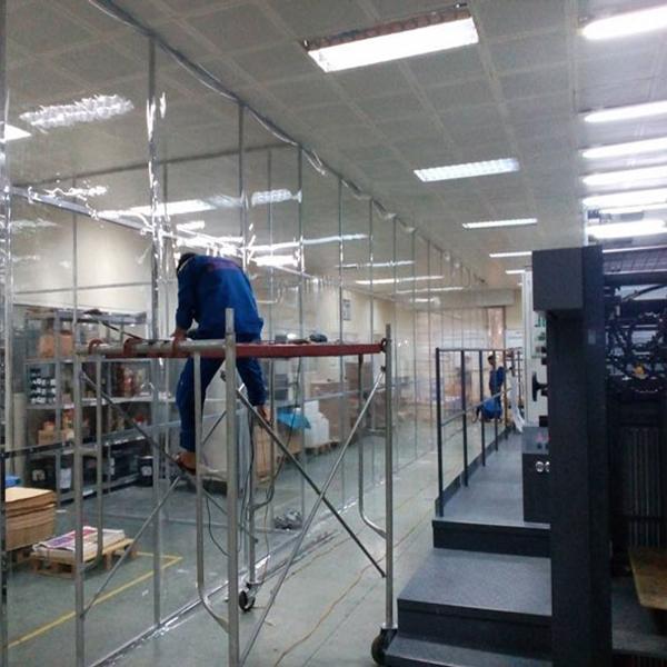 màn nhựa pvc khổ lớn ngăn khu vực sản xuất