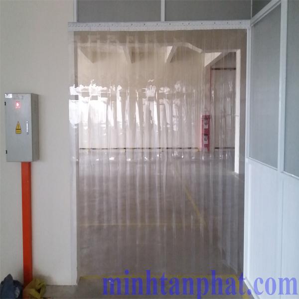 màn nhựa pvc ngăn kho lạnh cho nhà máy