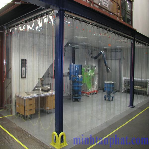 Màn nhựa pvc ngăn phòng lạnh, phòng sạch